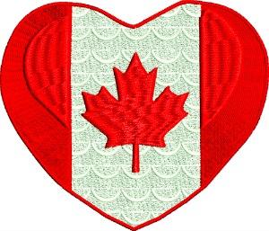 Canada flag in heart