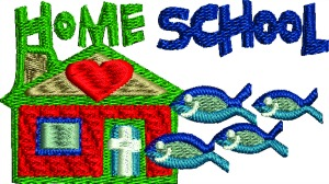 Christian Home School House Machine Embroidery Design