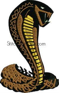 Cobra-Cobra, embroidery, machine embroidery, snakes