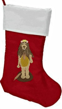 Cowardly Lion Nutcracker Christmas Stocking Name Free