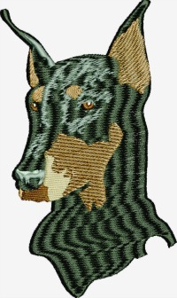 Doberman Dog Bust
