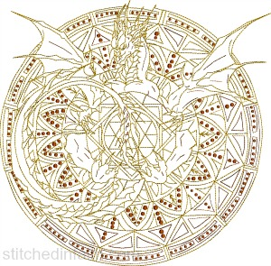 Dragon Emblem-Dragon embroidery, machine embroidery, Dragon machine embroidery, fantasy embroidery, bikers embroidery, halloween embroidery,