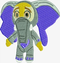 Elephant zoo design or Christmas stocking-ELEPHANT BABY EMBROIDERY CHILDRENS EMBROIDERY ZOO ANIMALS ANIMALS MACHINE EMBROIDERY EMBROIDERY STITCHEDINFAITH.COM