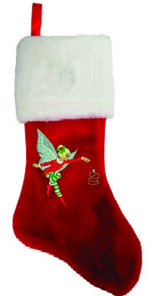 Personalize Fairy Plush Embroidered Christmas Stocking
