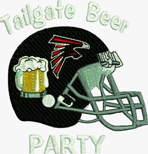 Football Tailgate Beer Party Helmet Falcons, Machine Embroidery Pattern-football falcons helmet machine embroidery embroidery beer party designs