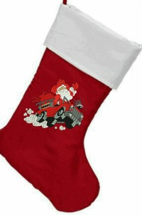 Fireman Personalized  Christmas Embroidered Stocking-Chirstmas stockings, Fireman stocking ,embroidered stockings, stockings fire truck stocking. stitchedinfaith.com