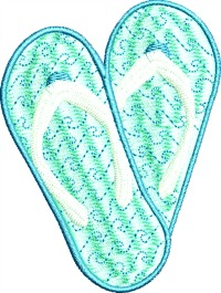 Flip Flops-FLIP FLOPS SHOES MACHINE EMBROIDERY STITCHED IN FAITH.COM APPAREL SUMMER