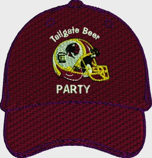 Football Tailgate Beer Party Redskins Embroidered Cap