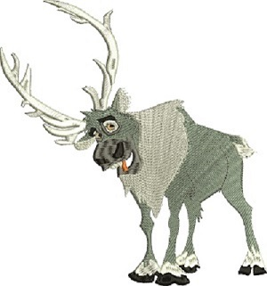 Reindeer From Frozin Machine Embroidery Design-REINDEER MACHINE EMBROIDERY CHILDRENS EMBROIDERY