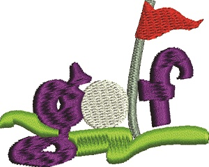 Golf Course Embroidery Design-GOLF MACHINE EMBROIDERY GOLF EMBROIDERY