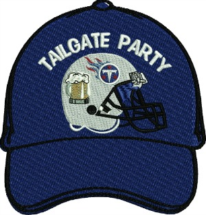 Football Tailgate Party Braves Embroidered Hat Cap