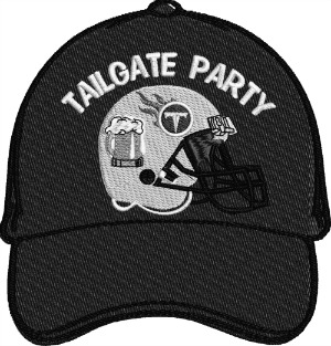 Football Tailgate Party Titans Embroidered Baseball Cap-football party tailgate Titans hat embroidered cap football hat