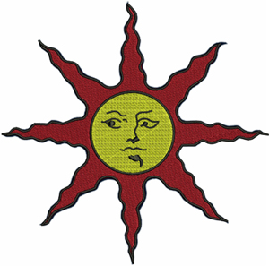 Holy sun-Holy sun, sun, machine embroidery, dark, souls, game