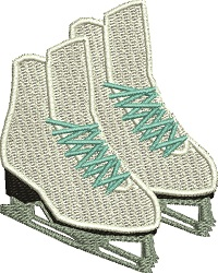 Ice Skates-Ice skates machine embroidery pair of ice skates skates