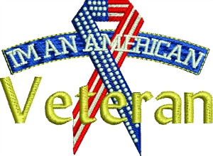 Im an American Veteran-Veterans embroidery, American Veteran, machine embroidery, Veterans
