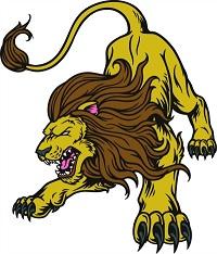 Lion-MACHINE EMBROIDERY LION CROUCHING LION