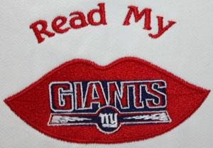 Giants read my lips reading pillow-Giants pillow, NY Giants, reading pillow, pillow,