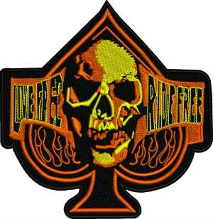 Motorcycle Patch Live Free Ride Free