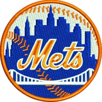 Baseball mets embroidery design-Baseball machine embroidery mets new york baseball new york stitchedinfaith.com