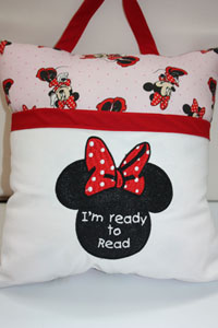 Reading pillows Minnie-Reading pillow,Minnie,pocket pillows, pillows, Christmas gifts,