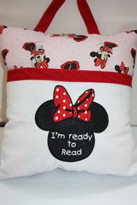 Reading pillows Minnie-Reading pillow,Minnie,pocket pillows, pillows, Christmas gifts,