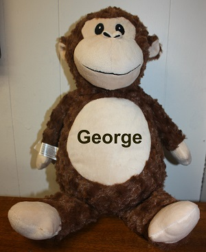 Name You Monkey Personalized Embroidered-Monkey stuffed animals personalized pets embroidered pets