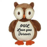Owl Love you forever embroidered owl