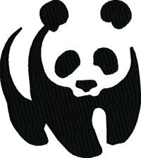 Panda silhouette-Panda bear silhouette machine embroidery