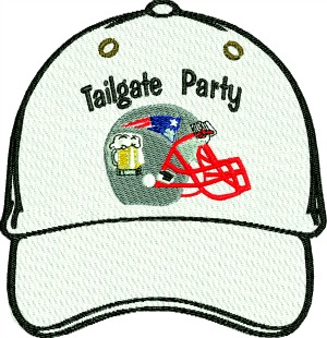 Football Tailgate Patriots Beer Party Embroidered Hat Cap-football tailgate beer party cap hat embroidered apparel embroidered hat embroidered cap Patriots