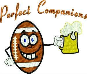 Football Perfect Companions Embroidery