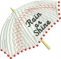 Rain or Shine-Baseball embroidery machine embroidery umbrella sports sports embroidery baseball embroidery stitchedinfaith.com