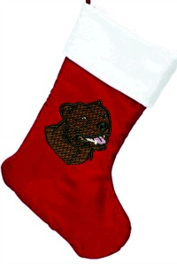 Pit Bull Personalized Christmas Stocking-Christmas stocking Pit bull stocking embroider dog stockings stitchedinfaith.com
