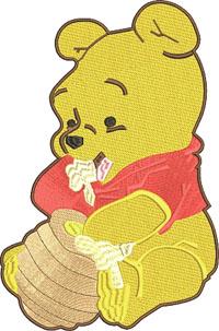 Winnie the Pooh-Winnie the pooh, machine embroidery, Pooh embroidery, Winnie embroidery, embroidery designs