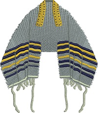 Prayer Shawl-Prayer Shawl, Jewish shawl, Shawl, Judaism, Israel, machine embroidery