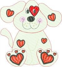 Puppy Love-Puppy love, Valentines Day, Love, Puppy, Puppies, machine embroidery, Dog Valentine, Valentine, stitchedinfaith.com