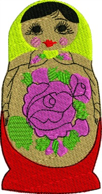 Russian Nesting Doll 2-Russian nesting dolls nesting dolls russia machine embroidery dolls christmas stitchedinfaith.com