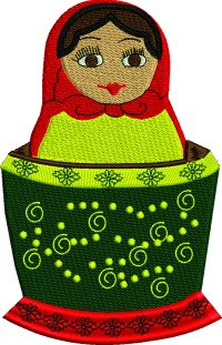 Russian Nesting Doll 3-RUSSIAN NESTING DOLLS NESTING DOLL RUSSIA DOLLS STITCHEDINFAITH.COM MACHINE EMBROIDERY