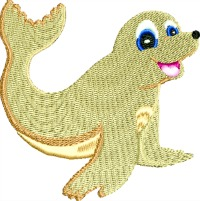 Seal-Seals seal baby seal machine embroidery sea life stitchedinfaith.com