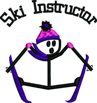 Ski Instructor-Ski instructor occuapations ski embroidery winter embroidery stitchedinfaith.com