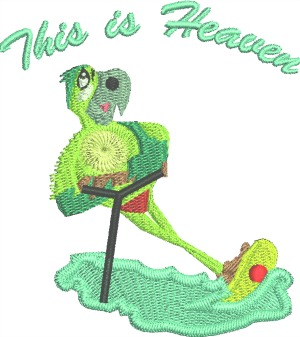 Water Skiing Machine Embroidery Design So Cute