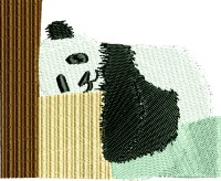 Sleeping Panda bear-machine embroidery embroidery designs panda bears Panda sleeping Panda bears bears