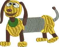 Slinky-Slinky, toy, story, machine embroidery
