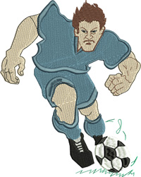 Soccer Man-Soccer embroidery, Soccer man, Soccer, machine embroidery