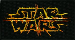 On fire Stars Wars-machine embroidery fire starswars words