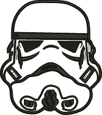 Storm Trooper Silhouette-Storm trooper machine embroidery childrens designs star wars movie designs