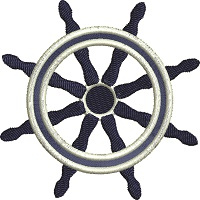 Helm ships steering wheel-Helm machine embroidery ship steering wheel boating ships nautical