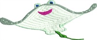 Stingray Zoo-Stingray stingray zoo cartoon stingray sea life childrens stingray adorable stingray topia stitchesinfaith.com machine embroidery