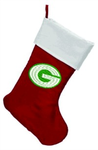Personalized Green Bay Christmas Stocking