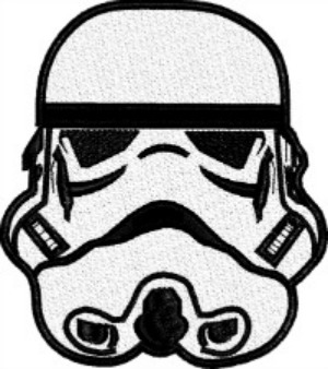 Storm Trooper-MACHINE EMBROIDERY STORM TROOPER EMBROIDERY
