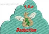 Tax Deduction-Baby, tax deduction, new addition, family, taxes, machine embroidery, new baby embroidery
